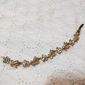 Traditional Ethnic Gold Crystal Gem Mini Bracelet